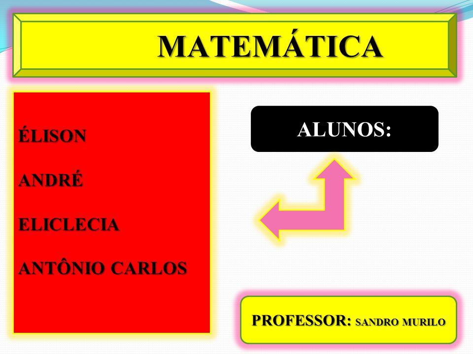 PROFESSOR: SANDRO MURILO