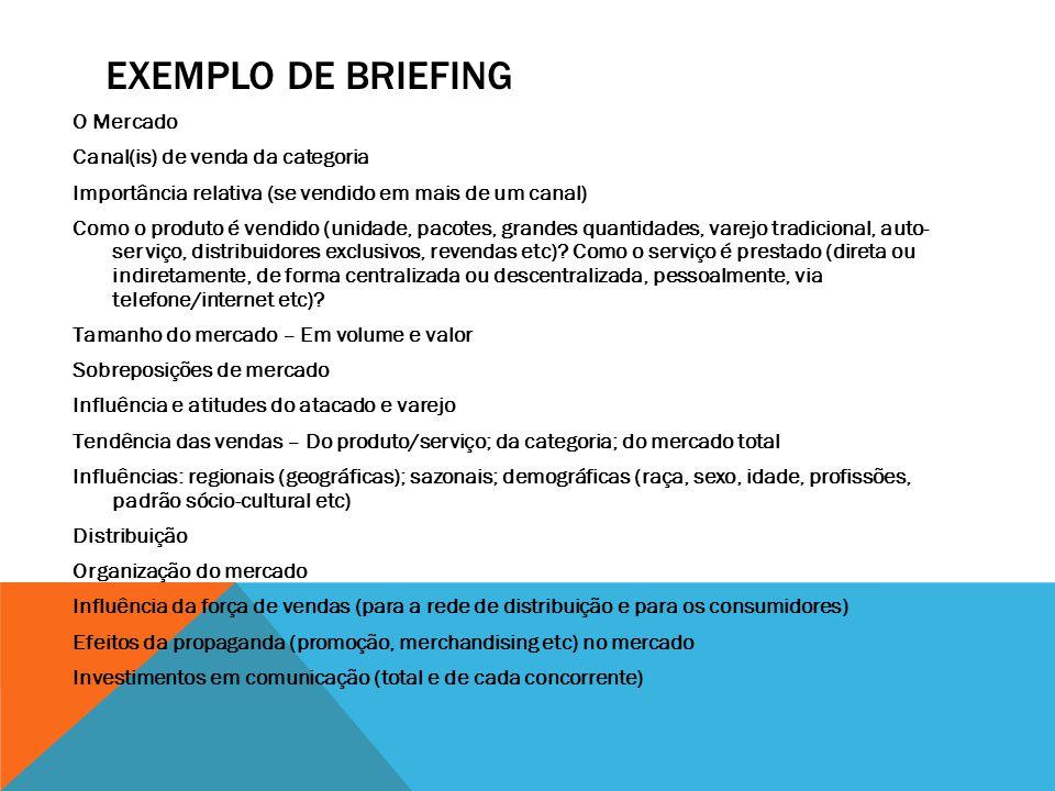 Exemplo de briefing