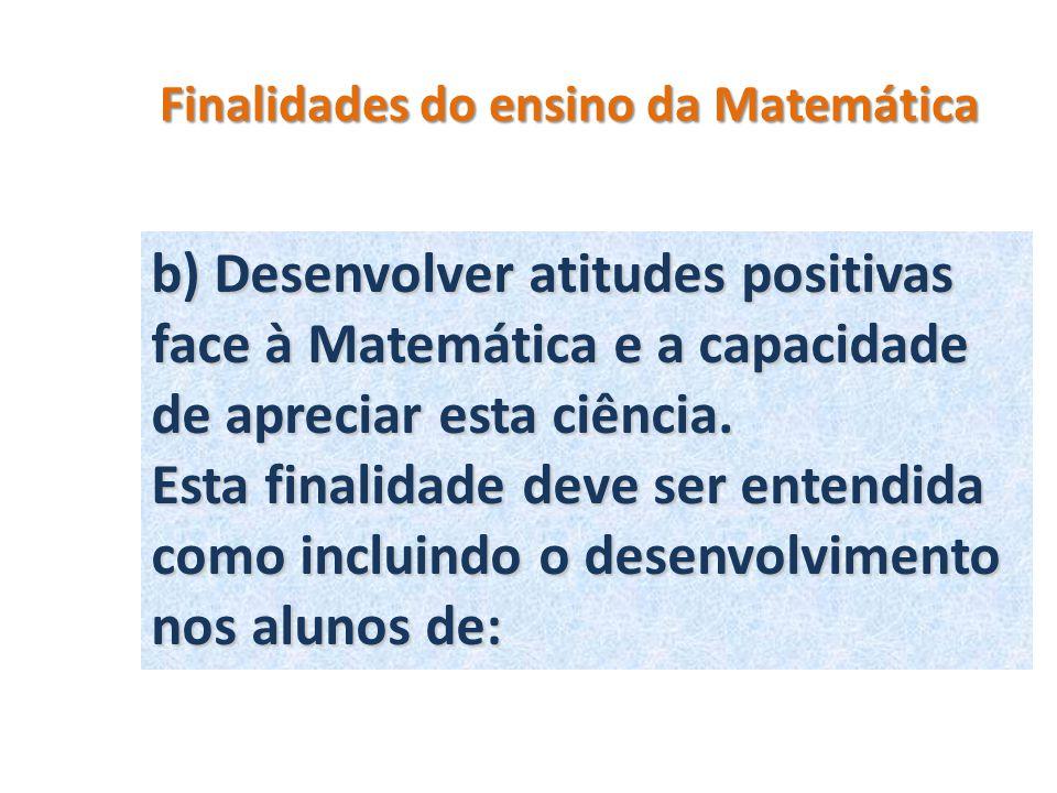 Finalidades do ensino da Matemática