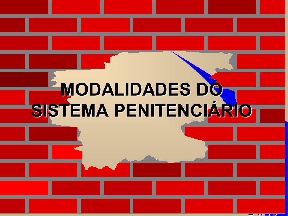 MODALIDADES DO SISTEMA PENITENCIÁRIO