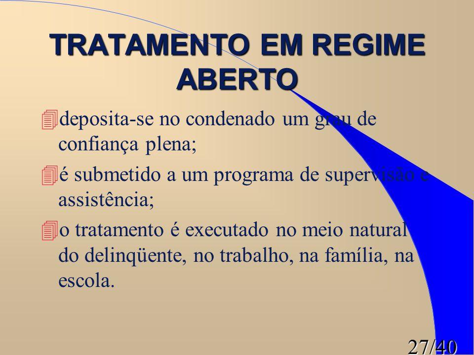 TRATAMENTO EM REGIME ABERTO