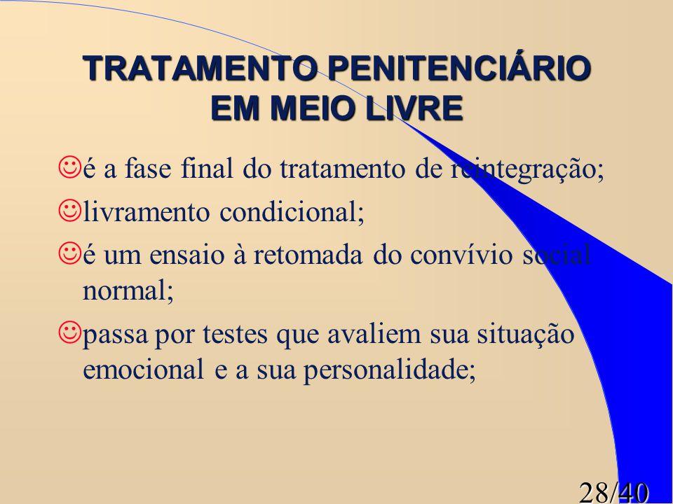 TRATAMENTO PENITENCIÁRIO EM MEIO LIVRE