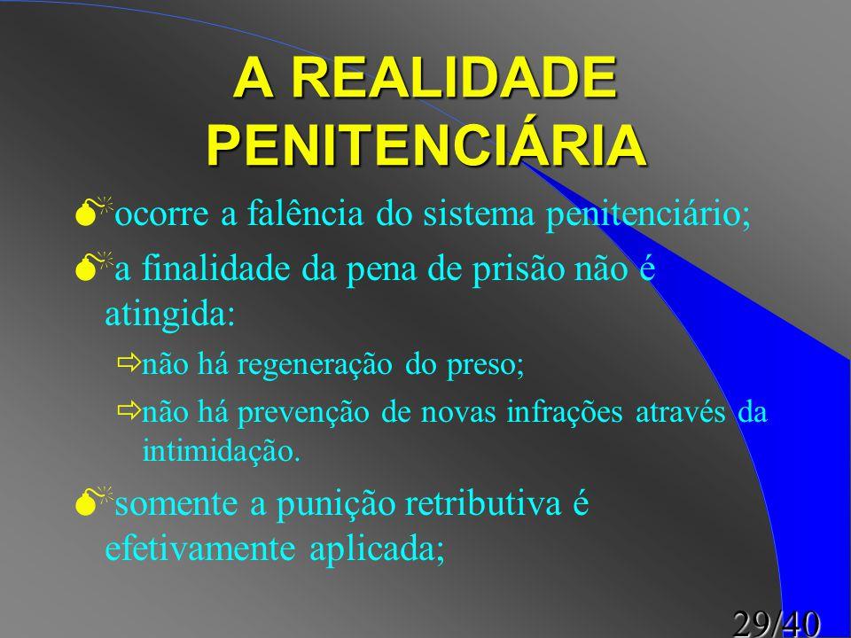 A REALIDADE PENITENCIÁRIA