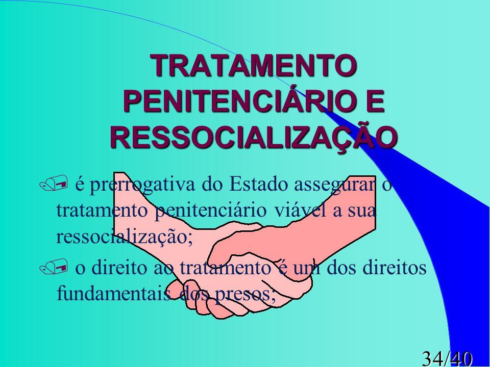TRATAMENTO PENITENCIÁRIO E RESSOCIALIZAÇÃO
