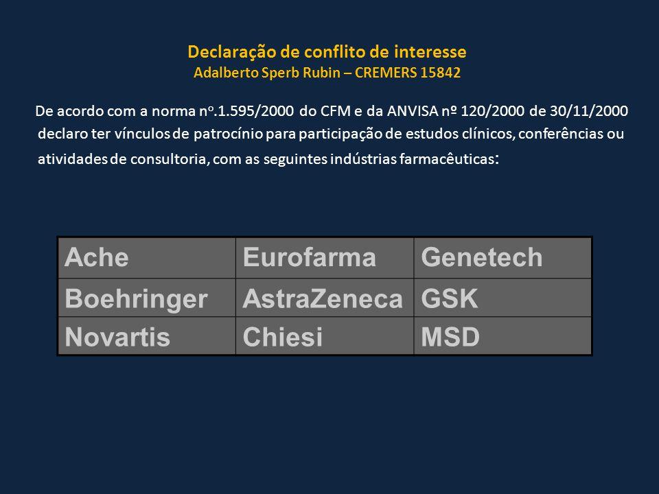 Ache Eurofarma Genetech Boehringer AstraZeneca GSK Novartis Chiesi MSD