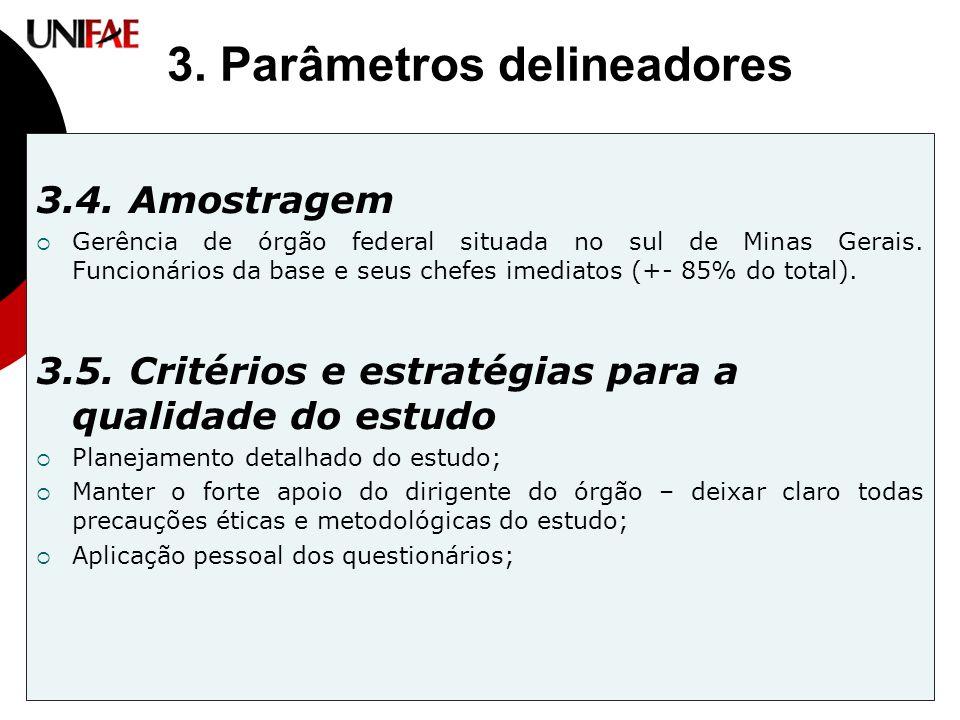 3. Parâmetros delineadores