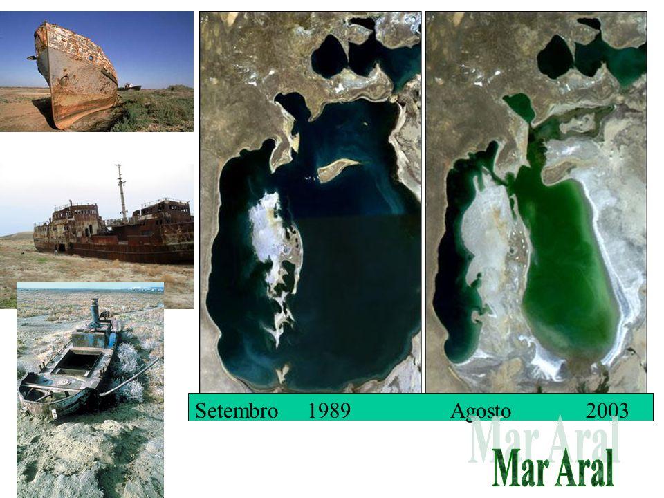 Setembro 1989 Agosto 2003 Mar Aral
