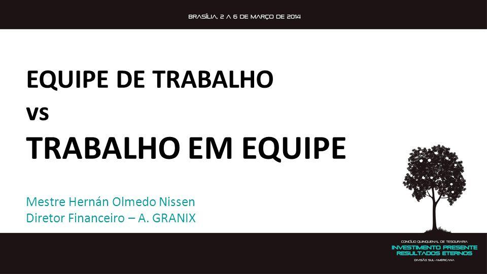 TRABALHO EM EQUIPE EQUIPE DE TRABALHO vs Mestre Hernán Olmedo Nissen