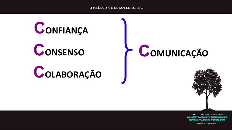 CONFIANÇA CONSENSO COLABORAÇÃO COMUNICAÇÃO