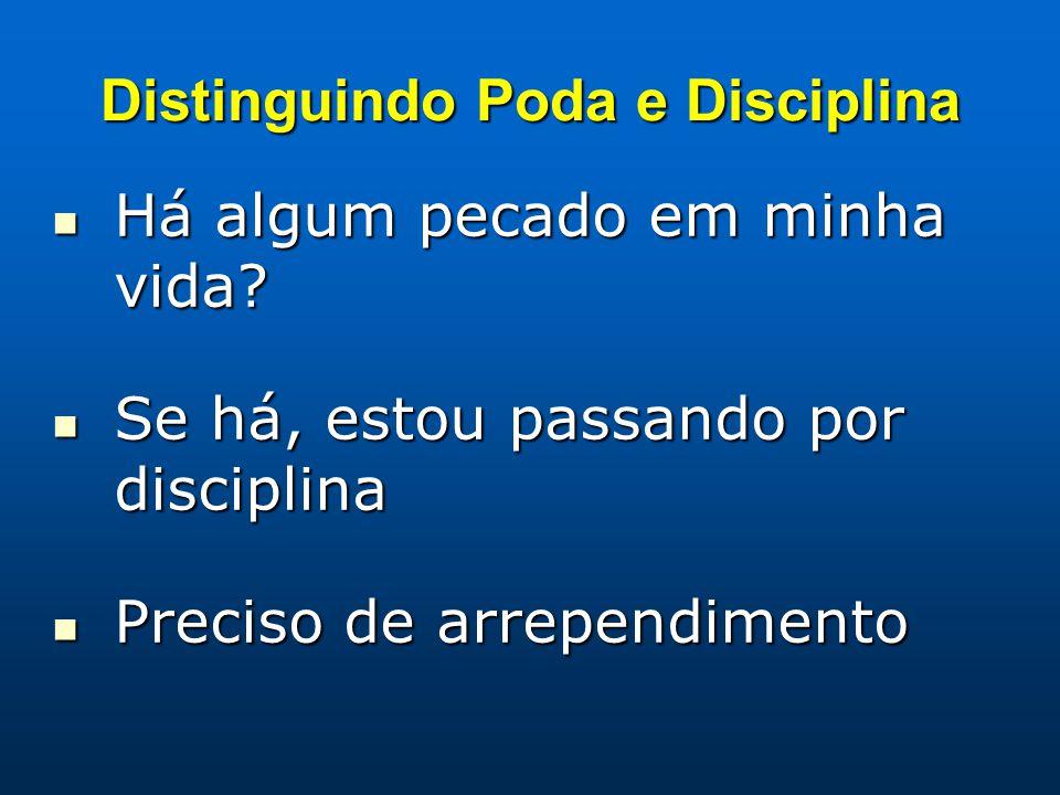 Distinguindo Poda e Disciplina