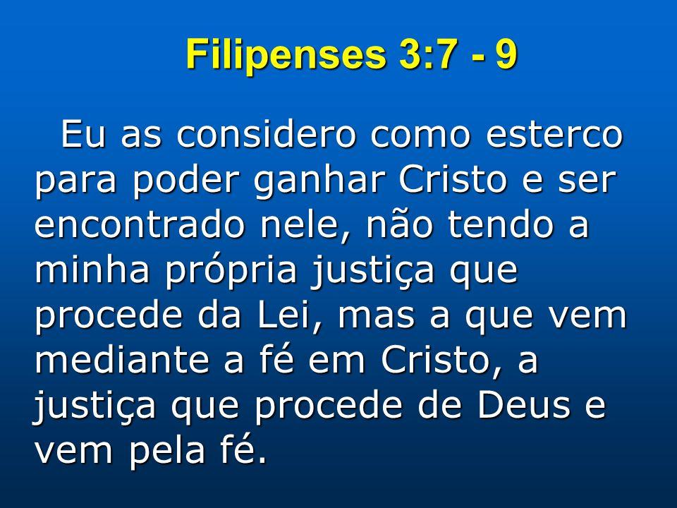 Filipenses 3:7 - 9