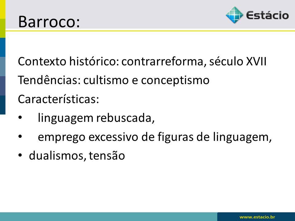 Barroco: Contexto histórico: contrarreforma, século XVII
