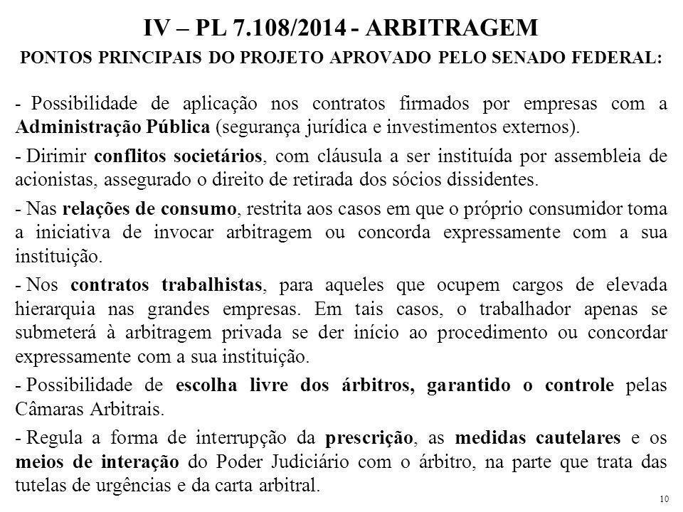 PONTOS PRINCIPAIS DO PROJETO APROVADO PELO SENADO FEDERAL: