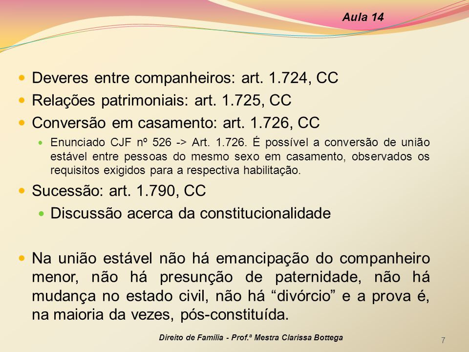 Deveres entre companheiros: art. 1.724, CC