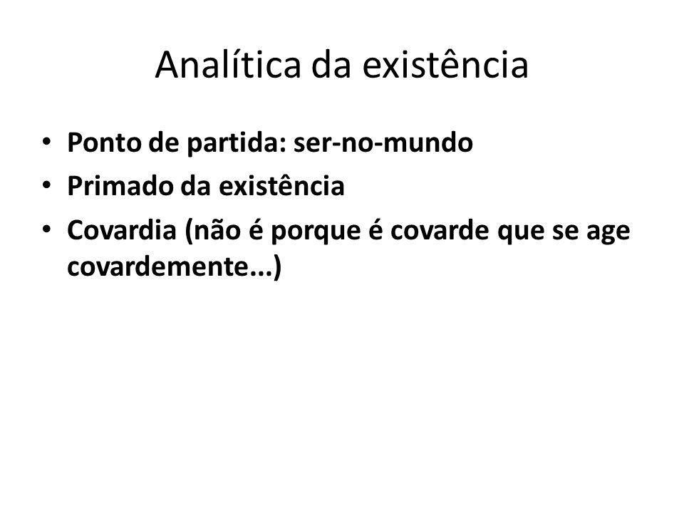 Analítica da existência