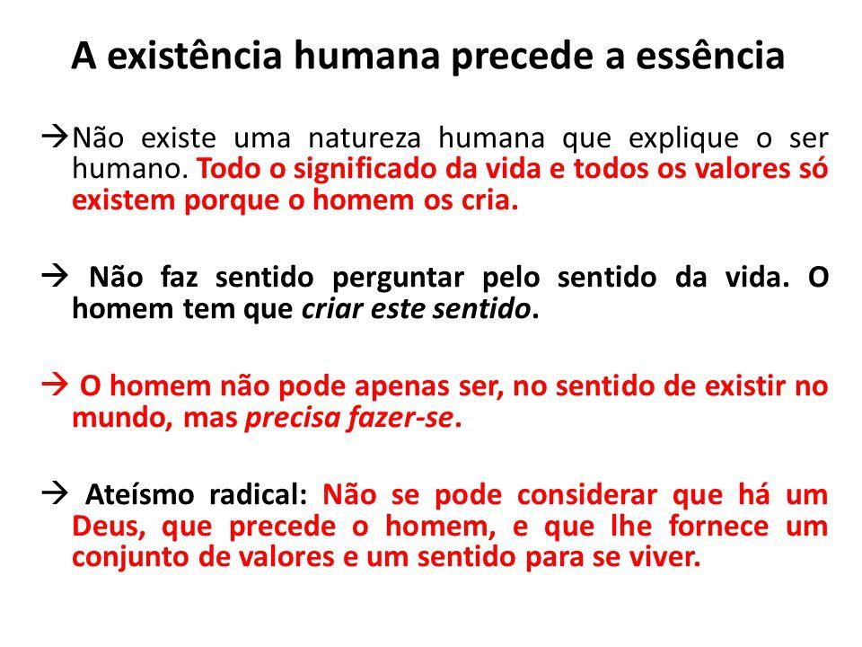 A existência humana precede a essência