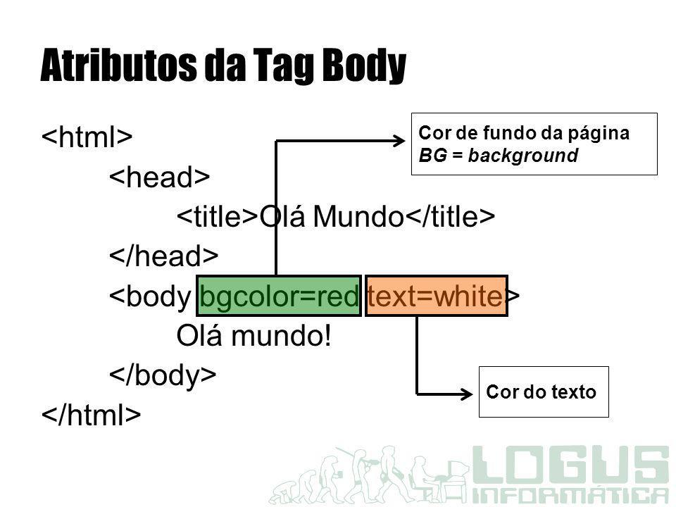 Atributos da Tag Body <html> <head>