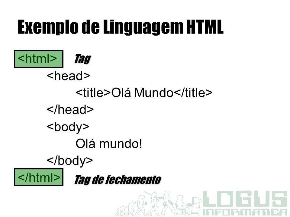 Exemplo de Linguagem HTML