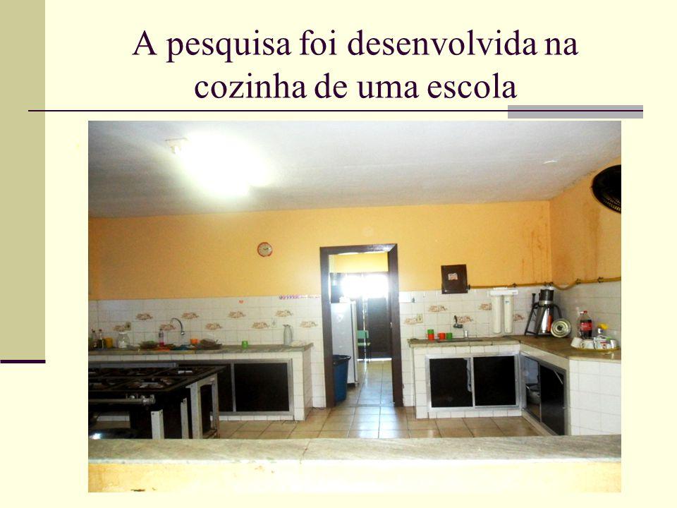 A pesquisa foi desenvolvida na cozinha de uma escola