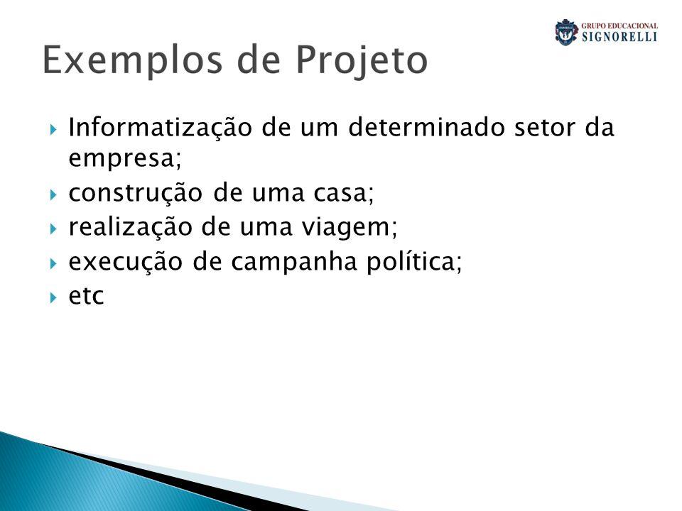 Informatização de um determinado setor da empresa;