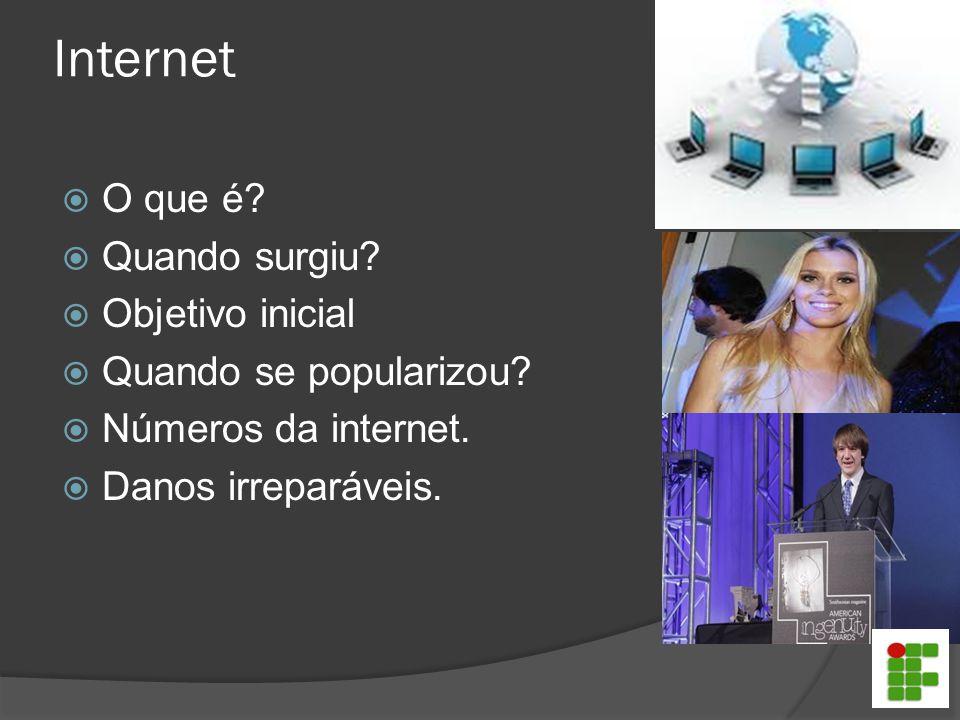 Internet O que é Quando surgiu Objetivo inicial