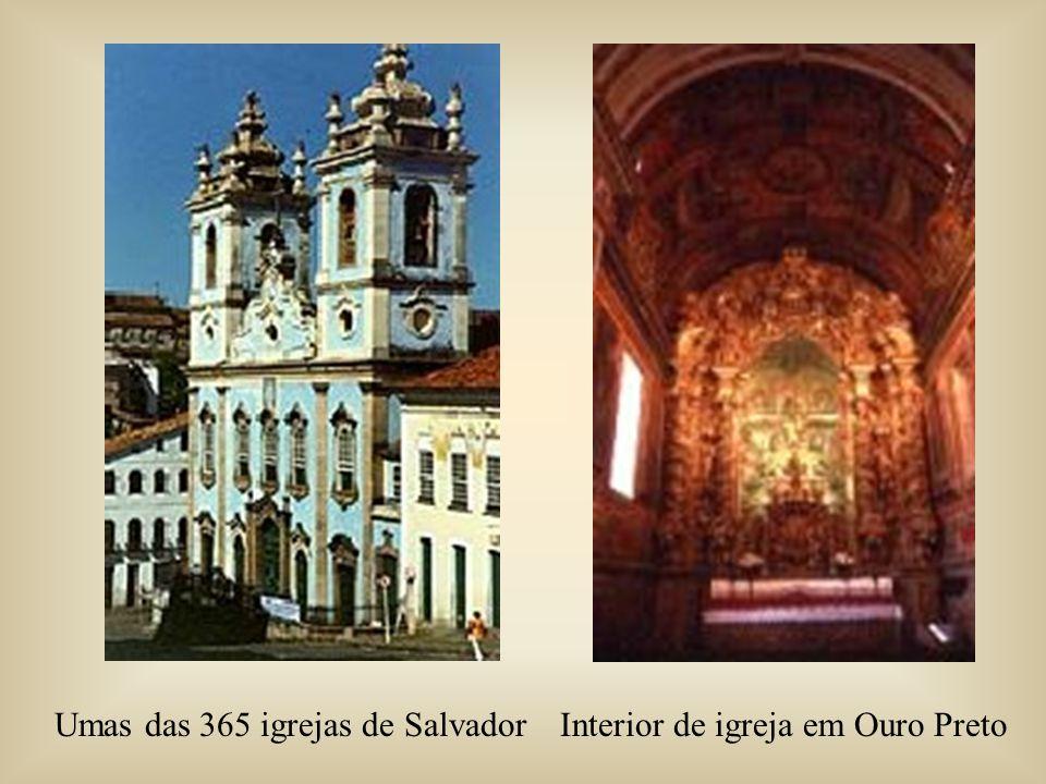 Umas das 365 igrejas de Salvador