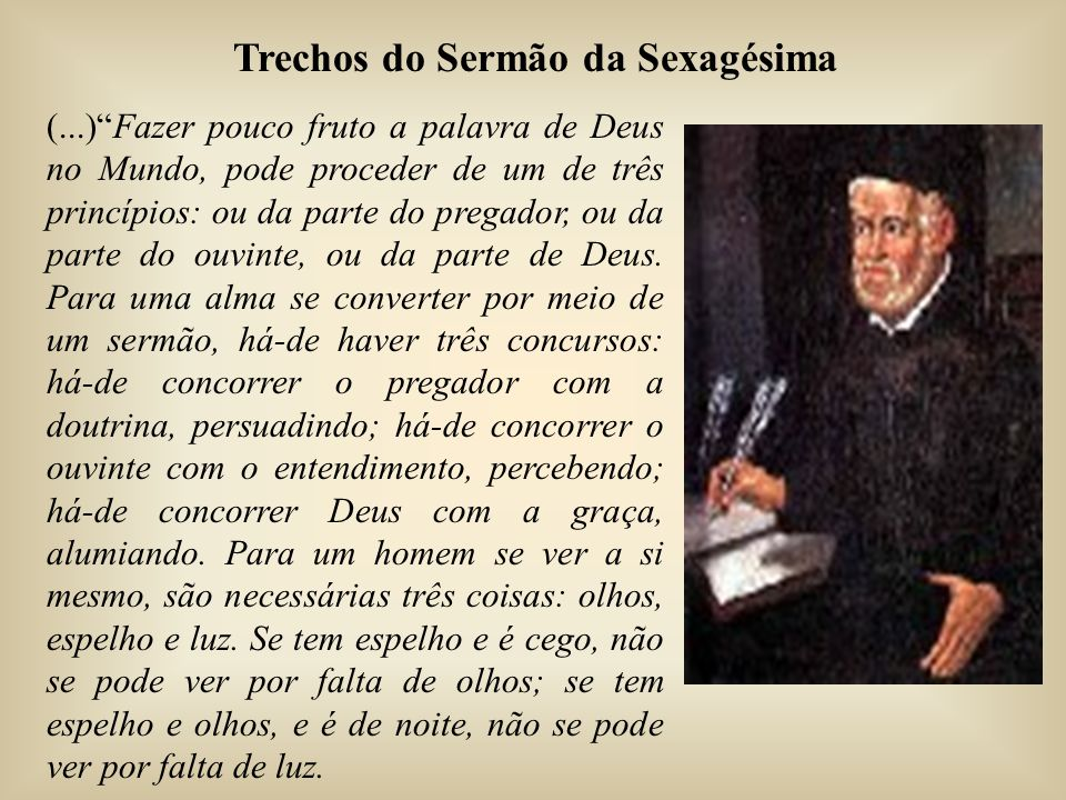 Trechos do Sermão da Sexagésima