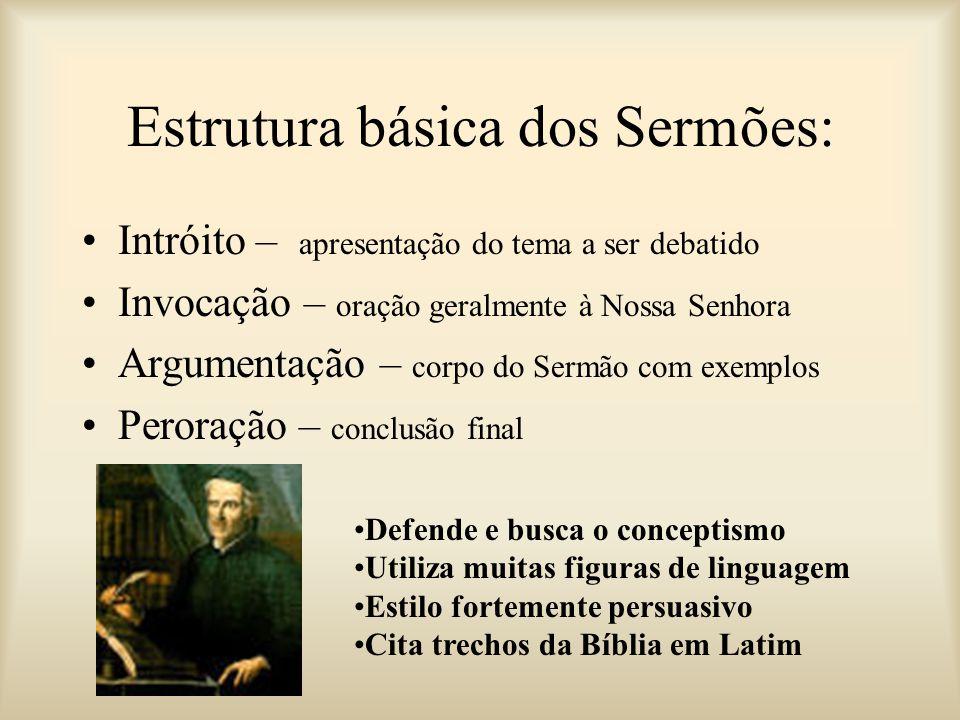 Estrutura básica dos Sermões: