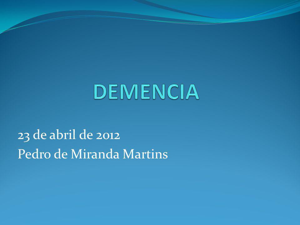 23 de abril de 2012 Pedro de Miranda Martins