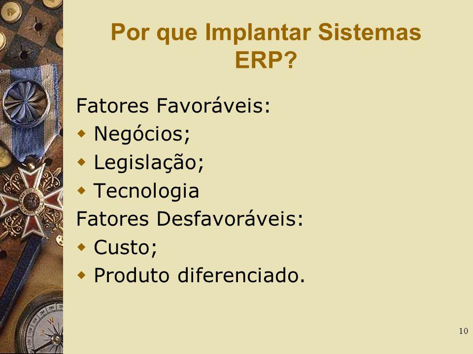 Por que Implantar Sistemas ERP