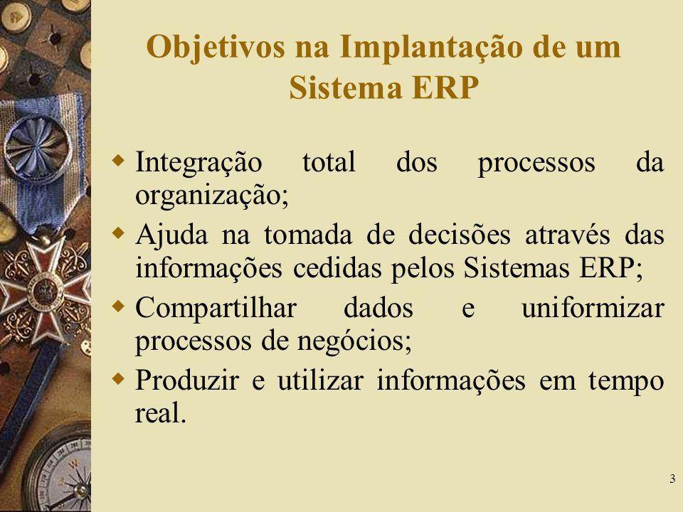 Objetivos na Implantação de um Sistema ERP