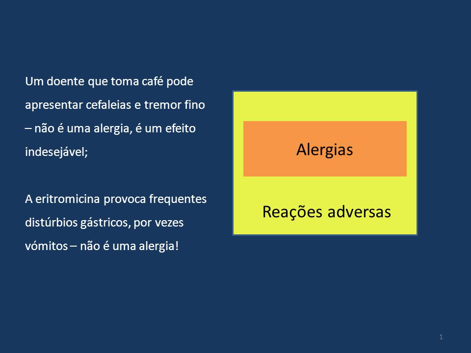 Alergias Reações adversas