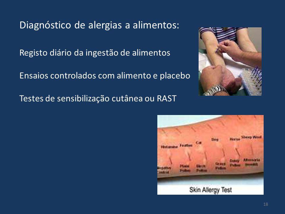 Diagnóstico de alergias a alimentos:
