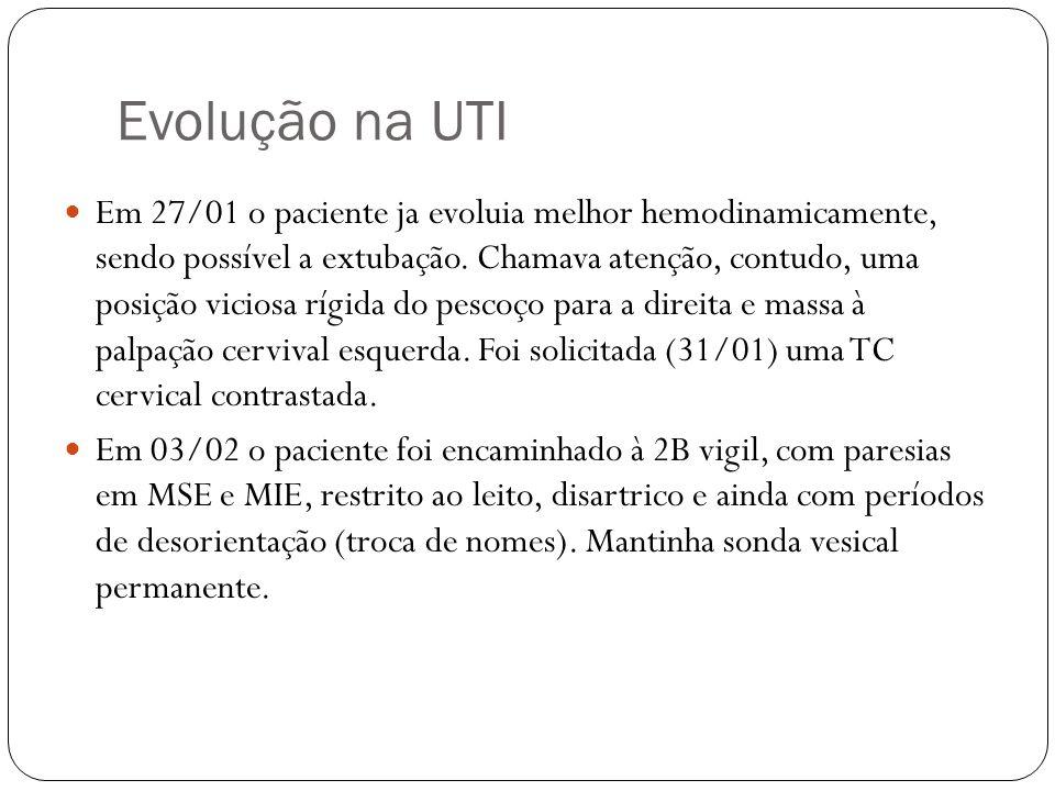 Evolução na UTI