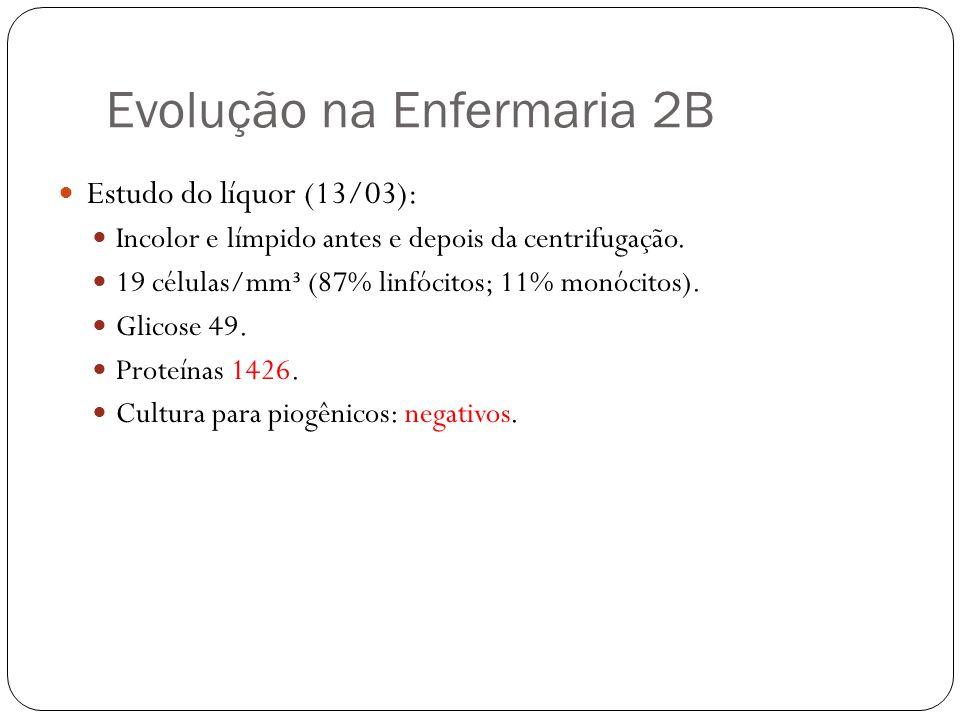Evolução na Enfermaria 2B