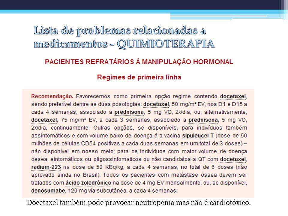 Lista de problemas relacionadas a medicamentos - QUIMIOTERAPIA