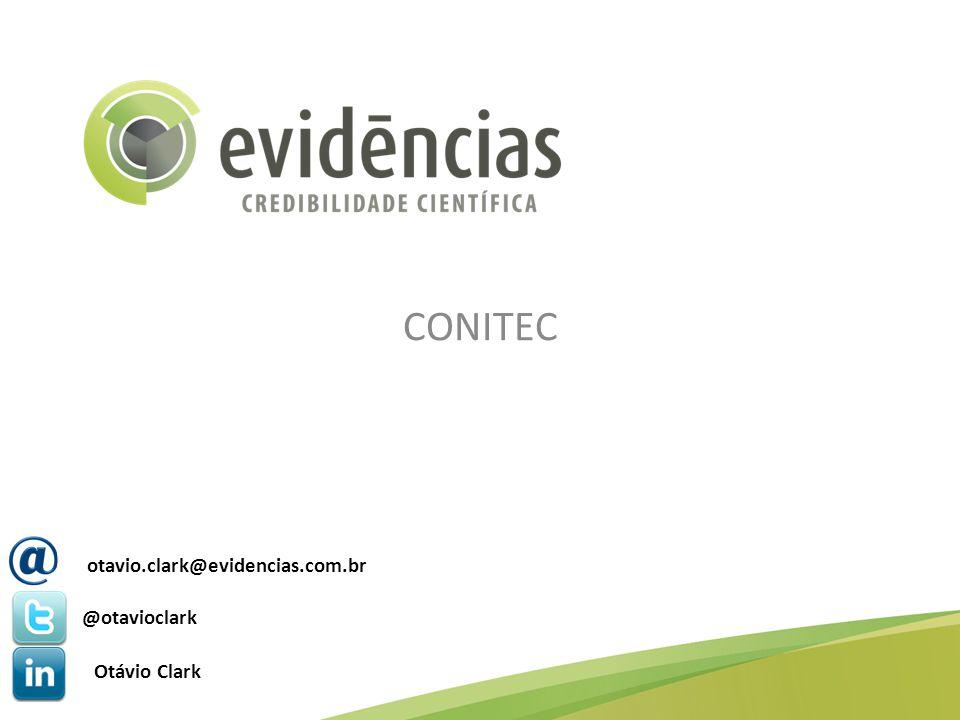 CONITEC otavio.clark@evidencias.com.br @otavioclark Otávio Clark