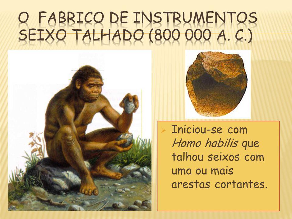 O FABRICO DE INSTRUMENTOS SEIXO TALHADO (800 000 a. C.)