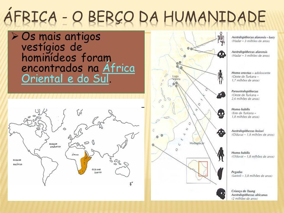 ÁFRICA - O BERÇO DA HUMANIDADE