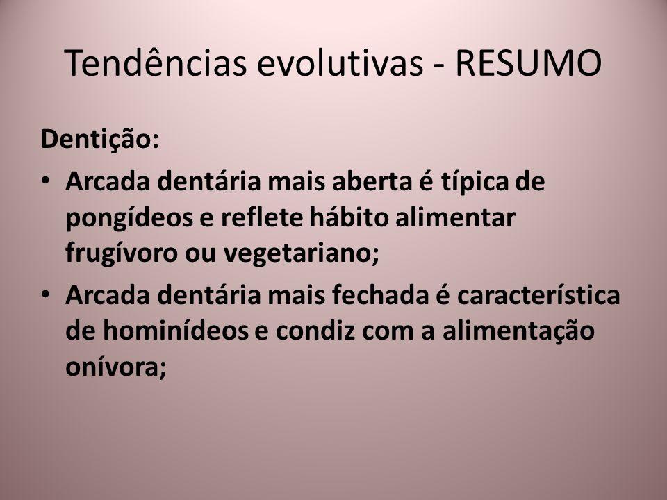 Tendências evolutivas - RESUMO