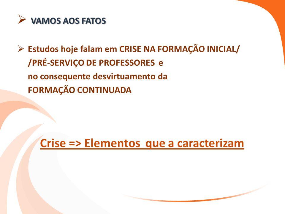 Crise => Elementos que a caracterizam