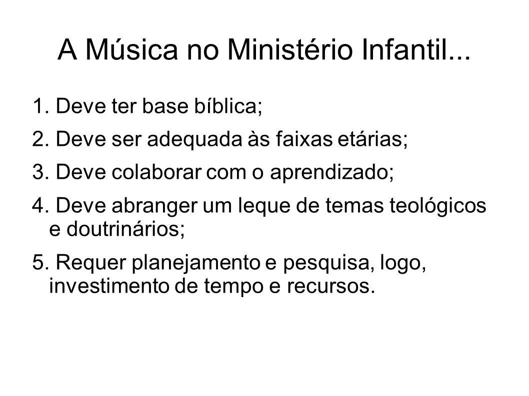 A Música no Ministério Infantil...