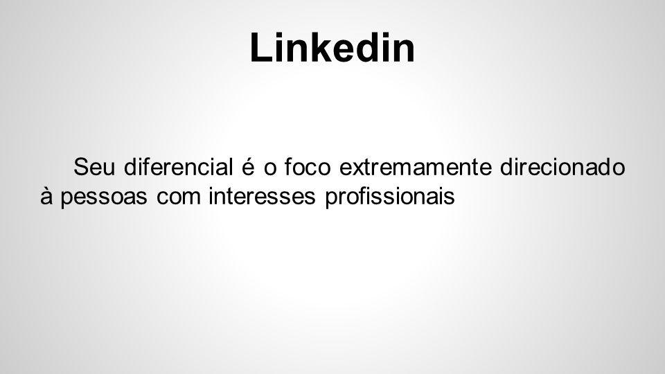 Linkedin Para estabelecer conexões, você precisa ser indicado por um amigo.
