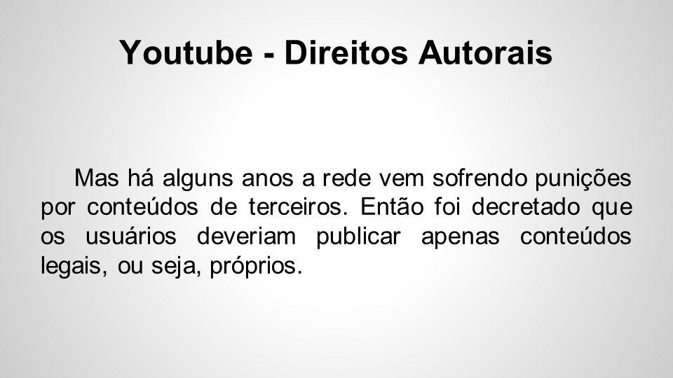 Youtube - Direitos Autorais