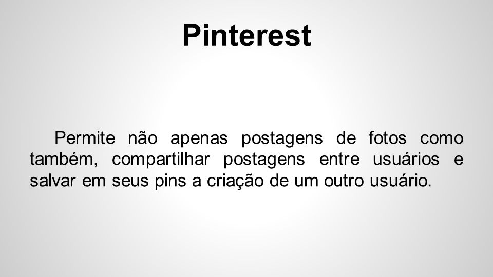 Pinterest O site é afiliado do Twitter e do Facebook.