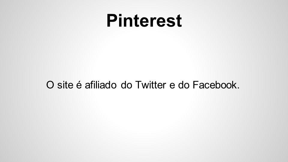 Pinterest Há possibilidade de comentar os pins e entrar em contato via mensagem com usuários.