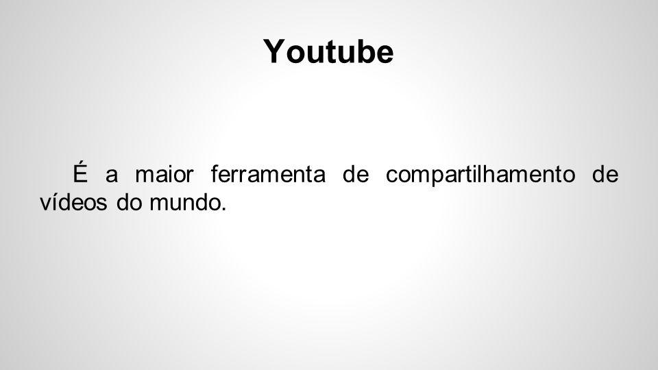Youtube O youtube é uma plataforma direcionada apenas para a postagem de vídeos, ou seja, conteúdos de áudio visuais.