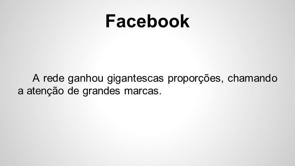 Facebook Assim nasceram as Fan Pages