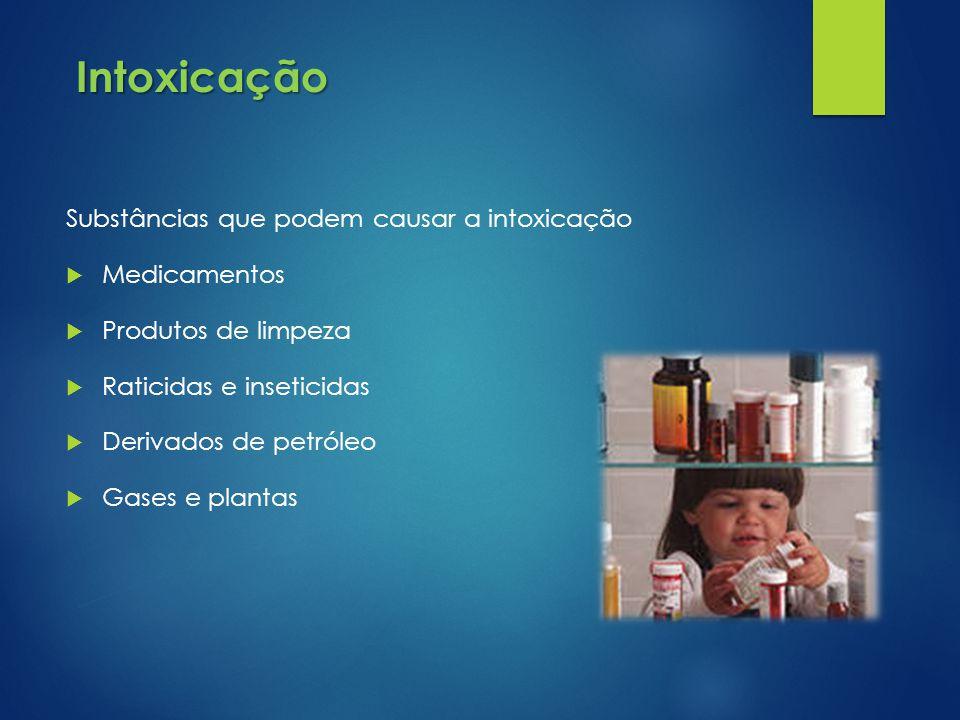 Intoxicação Substâncias que podem causar a intoxicação Medicamentos