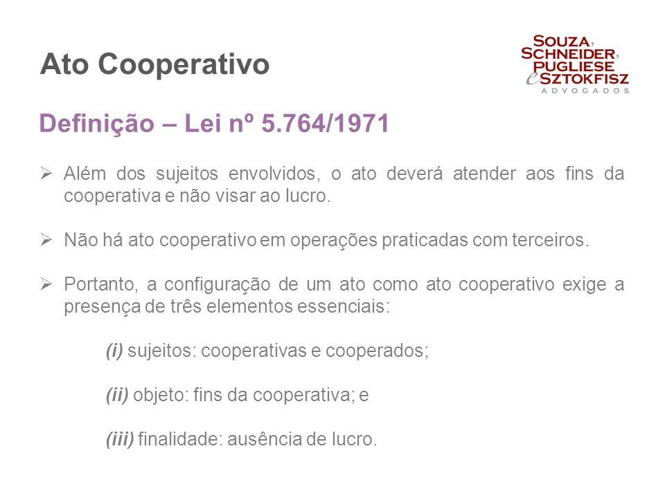 Ato Cooperativo Definição – Lei nº 5.764/1971